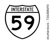 interstate highway 59 road sign ... | Shutterstock .eps vector #726388693