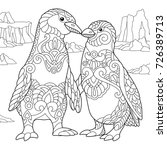 coloring page of emperor... | Shutterstock .eps vector #726389713