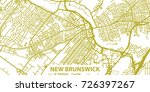 detailed vector map of new... | Shutterstock .eps vector #726397267