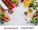 mediterranean dinner table with ... | Shutterstock . vector #726397897