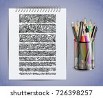 illustration of notebook with... | Shutterstock .eps vector #726398257
