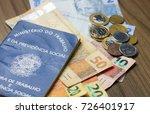 brazilian work permit  official ... | Shutterstock . vector #726401917