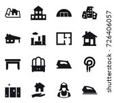 16 vector icon set   project ... | Shutterstock .eps vector #726406057