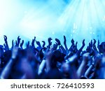 cheering crowd at rock concert... | Shutterstock . vector #726410593