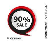 black friday sale inscription...   Shutterstock .eps vector #726411037