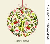 christmas ball. red  green ...   Shutterstock .eps vector #726415717