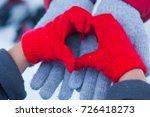 Kids Hands In Winter Red Glove...