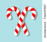 candy canes  | Shutterstock .eps vector #726419587