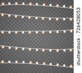 christmas lights isolated on... | Shutterstock .eps vector #726428053