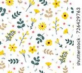 cute floral seamless pattern... | Shutterstock .eps vector #726429763