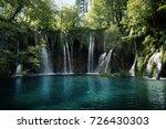 waterfall in forest  plitvice... | Shutterstock . vector #726430303