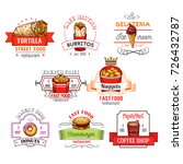 fast food restaurant icons... | Shutterstock .eps vector #726432787