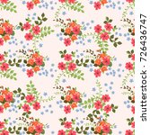 charming pattern in small... | Shutterstock .eps vector #726436747