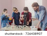 stem education. teenagers with... | Shutterstock . vector #726438907