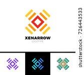 simple letter x logo. square... | Shutterstock .eps vector #726443533