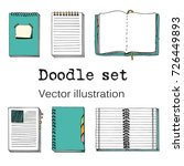 vector doodle set of sketch... | Shutterstock .eps vector #726449893