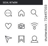 social network icons | Shutterstock .eps vector #726457333