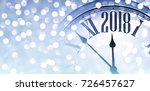 2018 new year blue banner with... | Shutterstock .eps vector #726457627