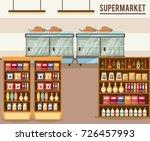 supermarket sale stand | Shutterstock .eps vector #726457993