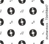 vinyl record vintage seamless... | Shutterstock .eps vector #726458647