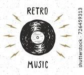 vinyl record vintage label ... | Shutterstock .eps vector #726459313