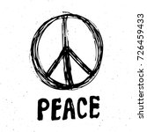 peace symbol  hand drawn grunge ... | Shutterstock .eps vector #726459433