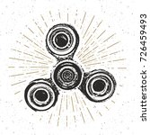 spinner vintage label  hand...   Shutterstock .eps vector #726459493