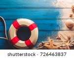 summer time concept with sea... | Shutterstock . vector #726463837