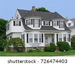 white clapboard house  | Shutterstock . vector #726474403
