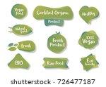 vector bio and vegetarian... | Shutterstock .eps vector #726477187