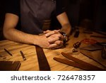 working process of the leather... | Shutterstock . vector #726478357