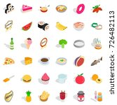 food icons set. isometric style ... | Shutterstock .eps vector #726482113