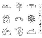 pleasure park icons set.... | Shutterstock .eps vector #726484573