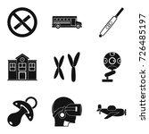 junior classes icons set....
