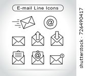 illustration of email icons on... | Shutterstock .eps vector #726490417