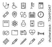 medical and health outline icon ... | Shutterstock .eps vector #726491047