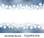 christmas snow winter background | Shutterstock .eps vector #726495193