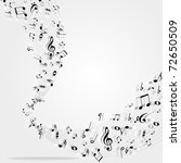 music notes  background | Shutterstock .eps vector #72650509