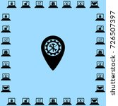 map pointer service icon ... | Shutterstock .eps vector #726507397