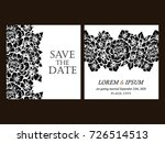 vintage delicate invitation... | Shutterstock . vector #726514513