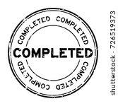 grunge black completed wording... | Shutterstock .eps vector #726519373