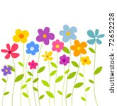 fantasy spring flowers growing. ... | Shutterstock .eps vector #72652228