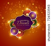 sparkling diwali festival sale... | Shutterstock .eps vector #726523543
