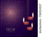 handing diwali lamp diya with... | Shutterstock .eps vector #726524317