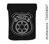 a badge  a police badge.... | Shutterstock .eps vector #726528067