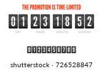 template of flip countdown... | Shutterstock .eps vector #726528847