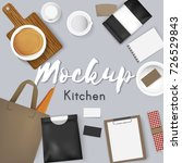 mockup set collection coffee... | Shutterstock .eps vector #726529843