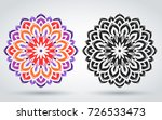 oriental pattern of the mandala.... | Shutterstock .eps vector #726533473
