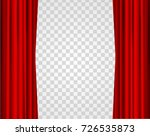 realistic red opened stage... | Shutterstock .eps vector #726535873