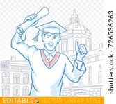 education  graduation  gesture... | Shutterstock .eps vector #726536263